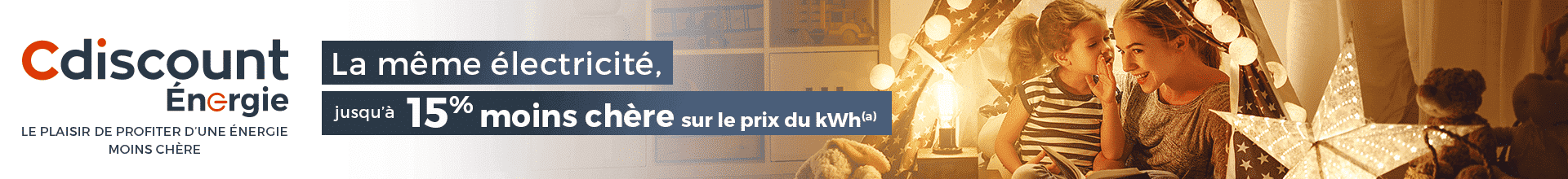 cdiscount energie electricite moins chere 15pourcent